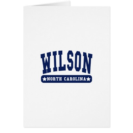 Wilson North Carolina College Style tee shirts Cards