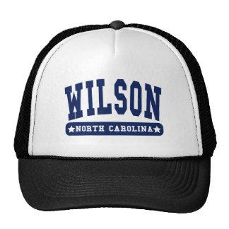 Wilson North Carolina College Style tee shirts Hat