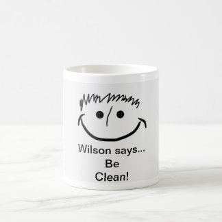 Wilson says Inspirational Be Clean! Coffee Mug