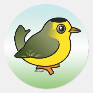 Wilson's Warbler Round Sticker