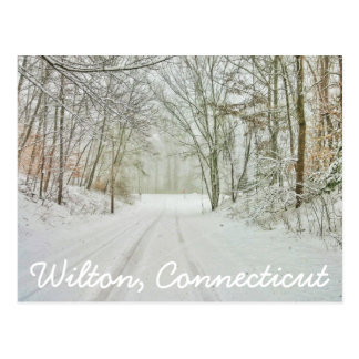 Wilton Connecticut Stamp Postcard