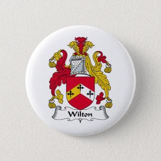 Wilton Family Crest 6 Cm Round Badge