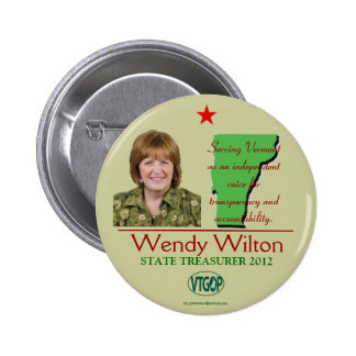 Wilton Republican for Vermont State Treasurer 2012 6 Cm Round Badge