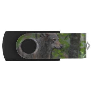 Wily Wolf Swivel USB 2.0 Flash Drive
