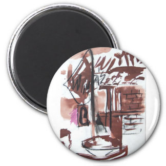 Wimpi's on PCH Apron 6 Cm Round Magnet