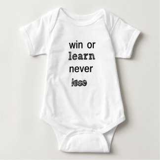 win or learn never lose baby bodysuit