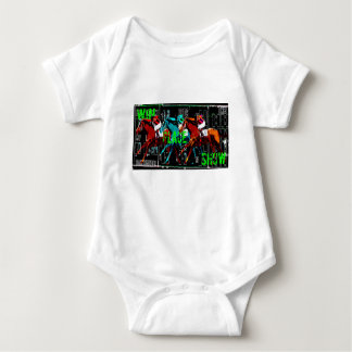 win place show horse racing baby bodysuit
