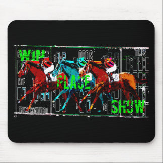win place show horse racing mouse pad