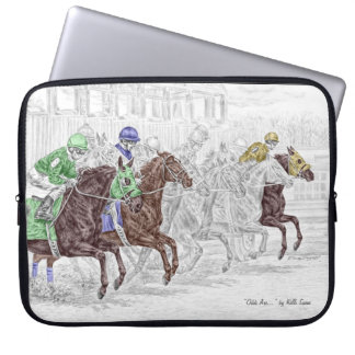 Win Place Show Race Horses Laptop Sleeve