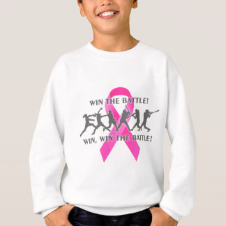 Win the Battle Softball Breast Cancer Pink Ribbon Sweatshirt