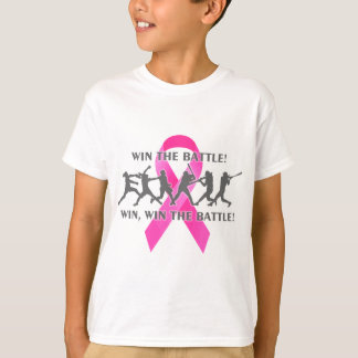 Win the Battle Softball Breast Cancer Pink Ribbon T-Shirt