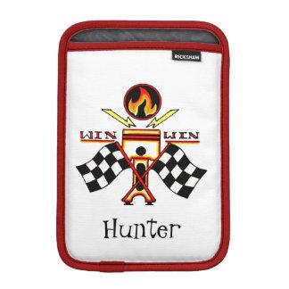 Win Win Men's Piston Checkered Racing Flag iPad Mini Sleeve