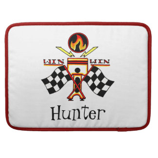 Win Win Men's Piston Checkered Racing Flag Sleeve For MacBooks