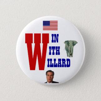 Win With Willard 2012 6 Cm Round Badge