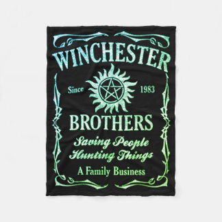 Winchester Brothers Since 1983 ( Leafgreen ) Fleece Blanket
