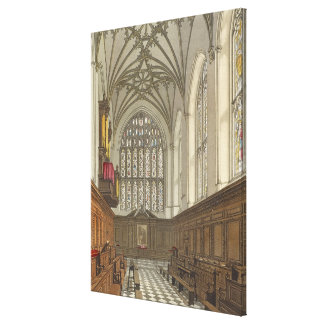 Winchester College Chapel, from 'History of Winche Stretched Canvas Prints