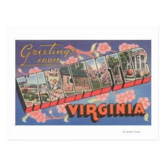 Winchester, Virginia - Large Letter Scenes Postcard