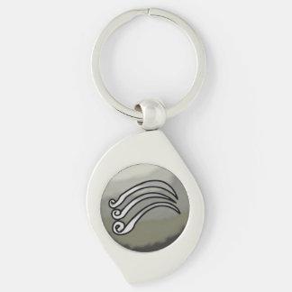 Wind Affinity Swirl Keychain Silver-Colored Swirl Key Ring