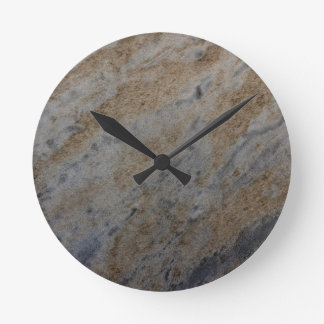 Wind aged sandstone with natural element patterns wallclocks