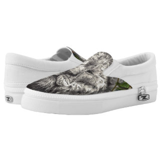 Wind Beneath My Wings Lion Butterfly Original Art Slip On Shoes