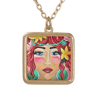 wind blown and sun kissed gold plated necklace