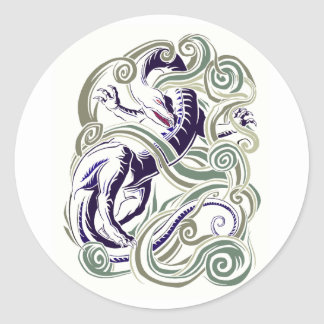 Wind dragon classic round sticker