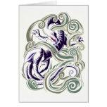 Wind dragon greeting card