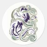 Wind dragon round sticker