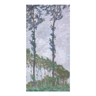 Wind Effect Series of Poplars by Claude Monet Personalized Photo Card