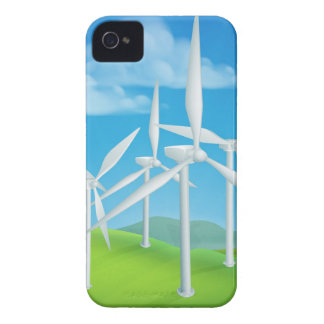 Wind Energy Power Turbines Generating Electricity iPhone 4 Cover