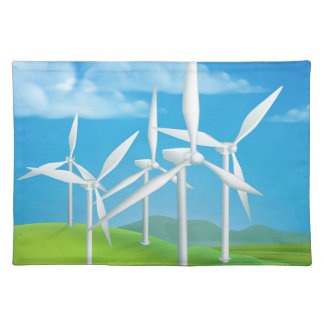 Wind Energy Power Turbines Generating Electricity Placemat