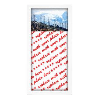 Wind Farm Customized Photo Card