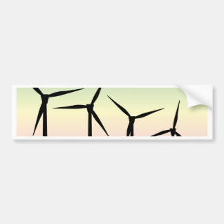 Wind Farm Morning Bumper Sticker