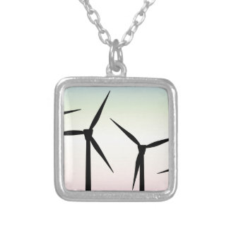 Wind Farm Morning Silver Plated Necklace