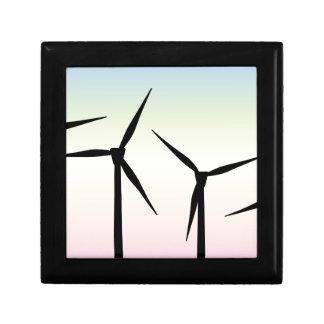 Wind Farm Morning Small Square Gift Box