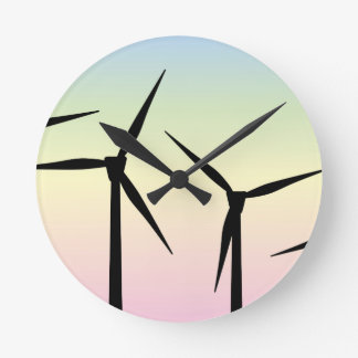 Wind Farm Morning Wall Clocks