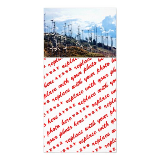 Wind Farm Personalized Photo Card