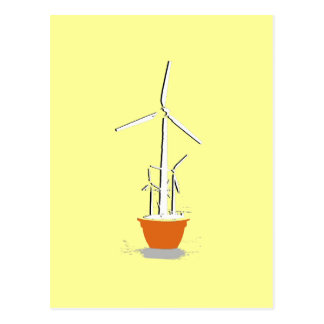 Wind Flower Power Post Card