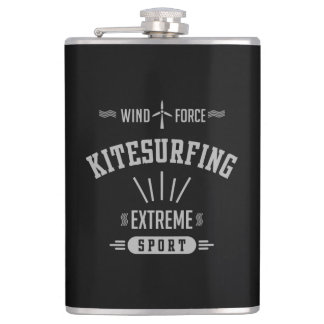 Wind Force Kitesurfing Extreme Sport Hip Flask