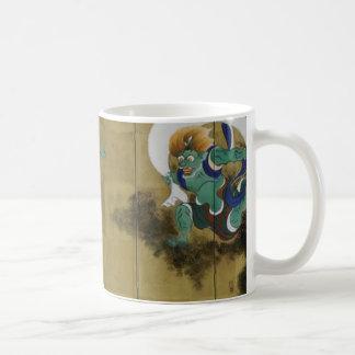 Wind God and Thunder God Japanese byobu Coffee Mug