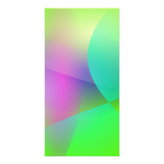 Wind Green Customized Photo Card