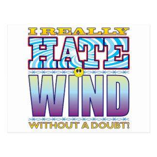 Wind Hate Face Postcard