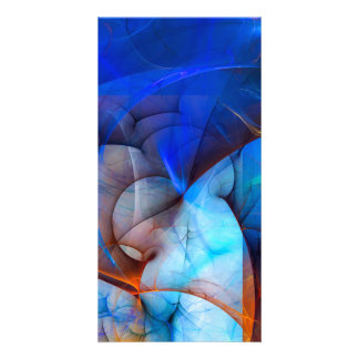 Wind in your sails - colorful digital abstract art picture card