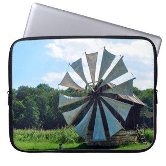 wind mill sibiu romania architecture history herit laptop sleeve
