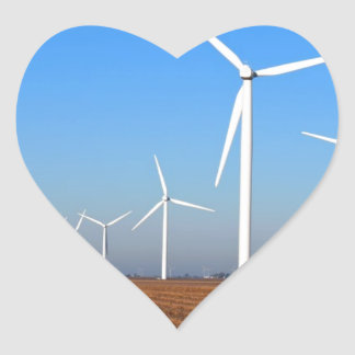Wind mills.JPG Heart Sticker