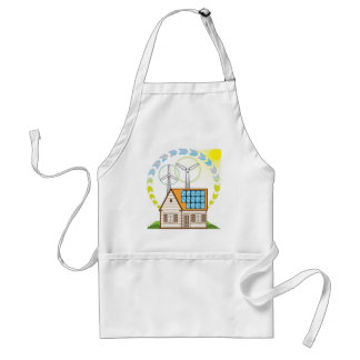 Wind n Solar Small House Vector Eco Energy Standard Apron