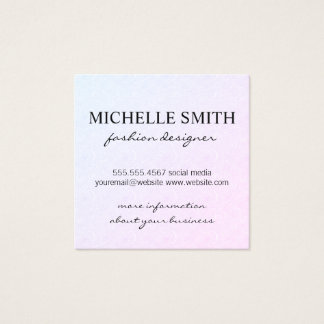 Wind Pattern Square Business Card