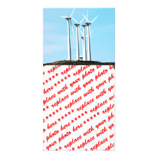 Wind Power 1 Photo Card Template