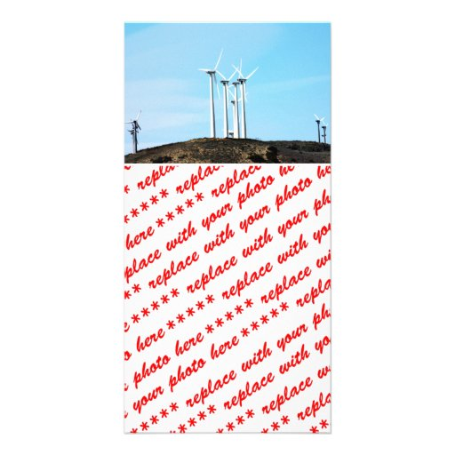 Wind Power (1) Customized Photo Card