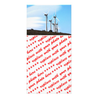 Wind Power 2 Personalized Photo Card